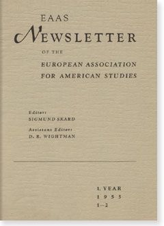 Cover of the first Newsletter of the EAAS